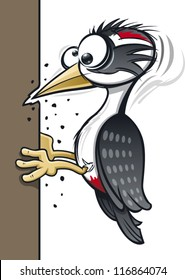 A cartoon woodpecker giving himself a headache