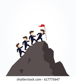 Climbing Mountain Cartoon Images Stock Photos Vectors Shutterstock