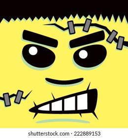 Cartoon Yellow Frank Face