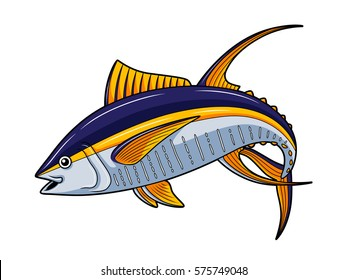 Cartoon Yellowfin Tuna