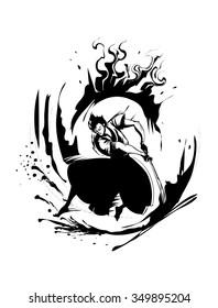 Cartoon/Comic Samurai - Hand drawing