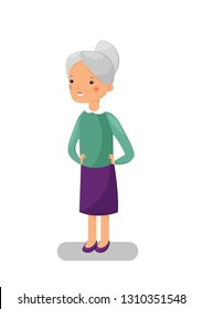 Cartooning granmother without background.