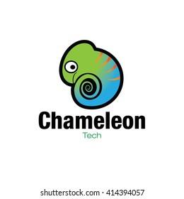 Cartoonish Chameleon Icon illustration in vector format