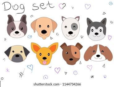 Cartoons dogs vector icon illustration