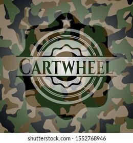 Cartwheel camouflage emblem. Vector Illustration. Detailed.