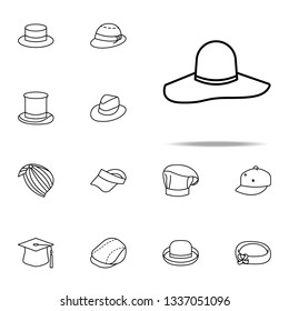 cartwheel hat icon. hats icons universal set for web and mobile