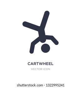 cartwheel icon on white background. Simple element illustration from Sports concept. cartwheel sign icon symbol design.