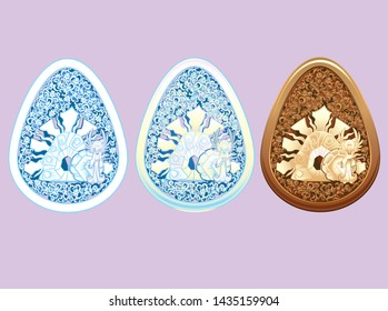 Carved Style Easter Egg Resurrection version 1 Set