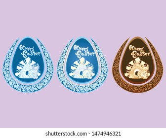 Carved Style Easter Egg Resurrection version 2 Set
