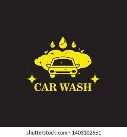carwash logo icon vector  illustration template