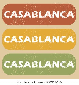 Casablanca on colored background