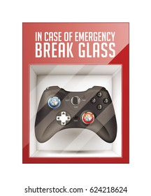 In case of emergency break glass - game pad concept