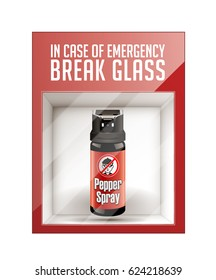 In case of emergency break glass - self defense concept