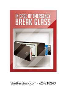 In case of emergency break glass - wallet concept