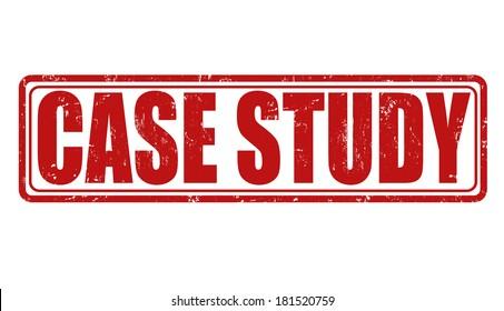 Case study grunge rubber stamp on white, vector illustration