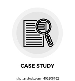 Case Study Services icon vector. Flat icon isolated on the white background. Vector illustration.