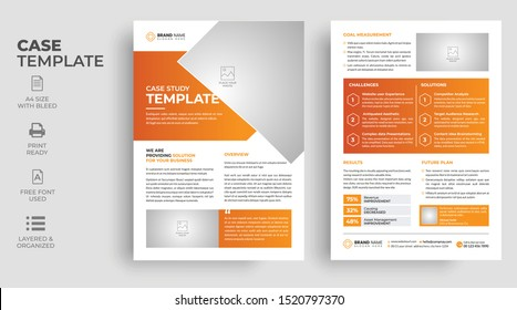Case Study Template, Flyer Template, Poster design with Case Study