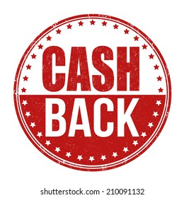 Cash back grunge rubber stamp on white background, vector illustration