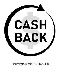 cash back icon on white background. cash back sign. flat style. money cash back banner.