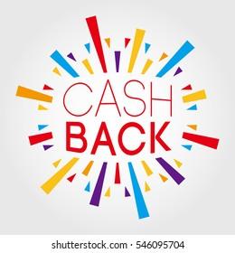 Cash Back. Poster, Banner, Greeting Template. Vector Illustration