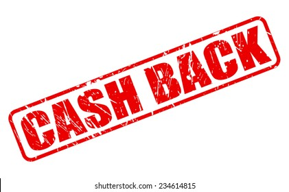 Cash back red stamp text on white