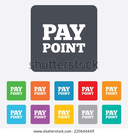 Cash Coin Sign Icon Pay Point Stock Vector (Royalty Free