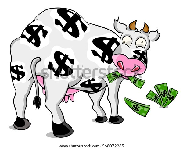 Cash cow cartoon drawings