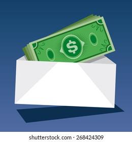 Cash Money; Vector Illustration