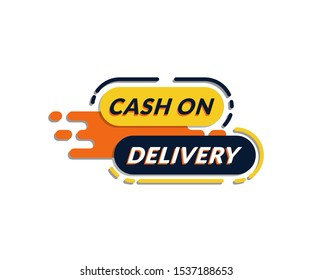 Cash on delivery tags collection. Special delivery, shipping, Cod. Delivery online shipping. Sticker, badge, coupon, store. Vector Illustration.