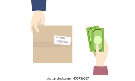 cash on delivery,COD payment, e-commerce, payment. VECTOR,EPS10