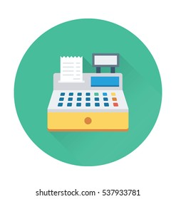 Cash Register Vector Icon