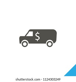 Cash transit van icon