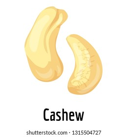 Cashew icon. Cartoon of cashew vector icon for web design isolated on white background
