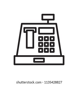 Cashier Icon. Line vector. Isolate on white background.