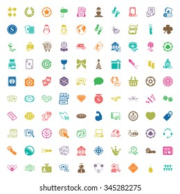 casino 100 icons universal set for web and mobile