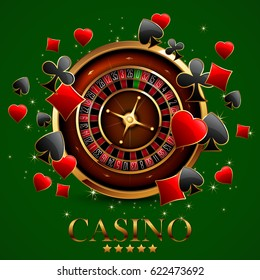 casino advertising design with a tape measure on a green background