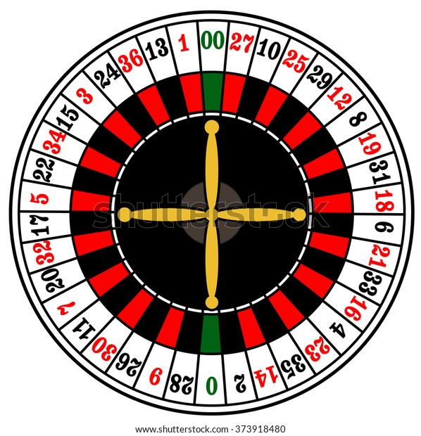 Casino American Roulette Wheel Stock Vector Royalty Free 373918480