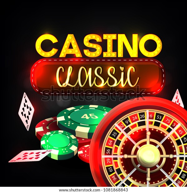 Casino Background Cards Chips Craps Roulette Stock Vector Royalty Free 1081868843