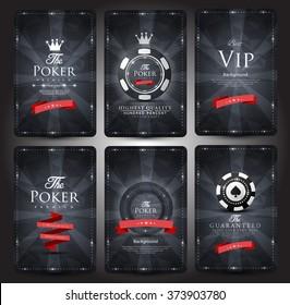 Casino card design-Vintage style-elegant