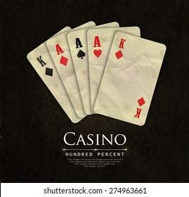Casino card design-vintage-elegant-poker