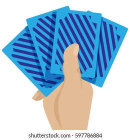 Casino cards in the hand game concept icon vector illustration graphic design, cards for focus, vegas cards, vector illustration