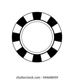 Casino chip concept icon vector illustration graphic design