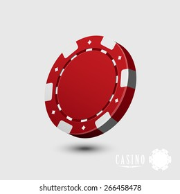 Casino chip isolated - vector