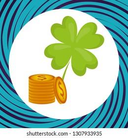 casino clover with money