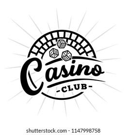 Casino club logo. Vector and illustration.
