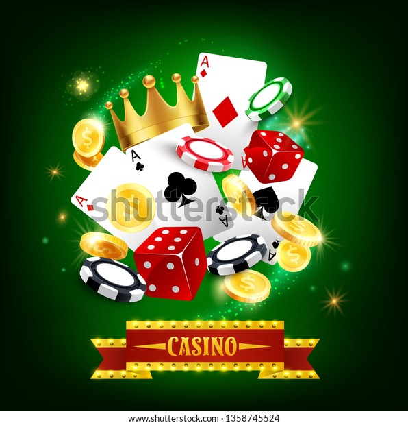 Casino Gambling Game 3d Vector Poster Stock Vector Royalty Free 1358745524