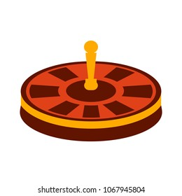 Casino game icon, gambling illustration - vector roulette, roulette machine