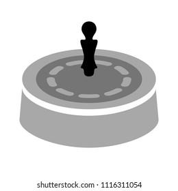 Casino game icon, gambling illustration - vector roulette, roulette machine