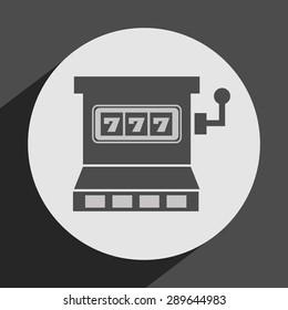 casino games icon design, vector illustration eps10 graphic