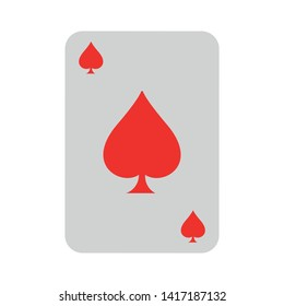 Casino icon. Playing cards symbol. Ace of hearts.